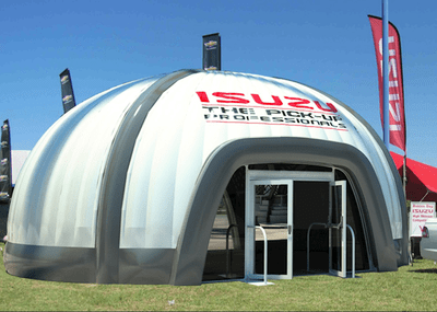 Inflfatable Dome 3D Render for Isuzu