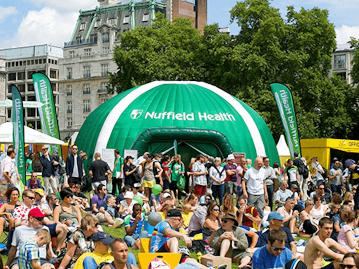 Inflatable Dome for Nuffield Health