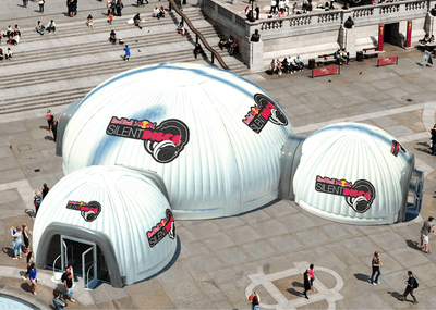 3D Render of Inflatable Domes for Red Bull Project