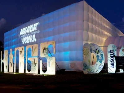 Absolut Vodka completed Inflatable Marquee