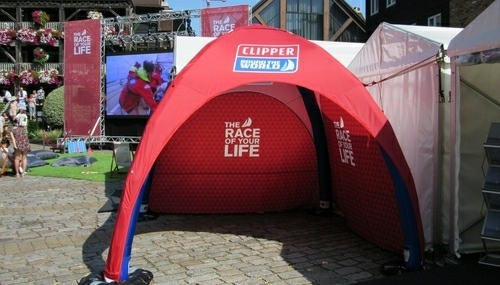 Axion Lite Inflatable Event Tent for Clipper Ventures