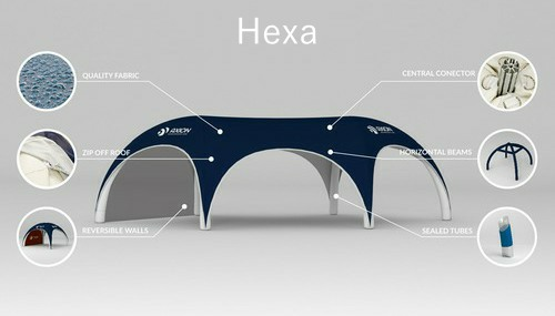 Axion Hexa - Inflatable event tent construction