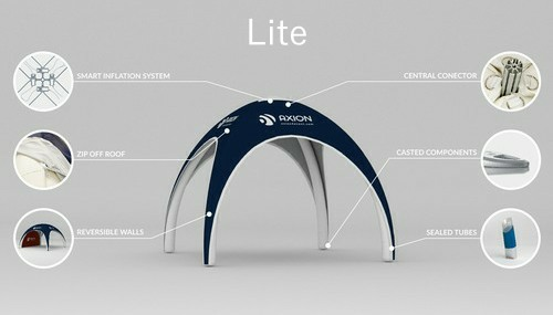 Axion Lite - Inflatable event tent construction