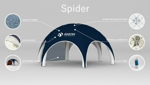 Inflatable dome tent - Axion Spider