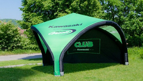 Axion Tripod inflatable event tent for Kawasaki