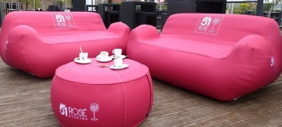 UNC Pro Inflatable Furniture - Inflatable Sofa and Inflatable Table