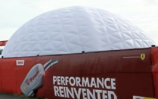 14m Inflatable domes for Shell UK Product Launch