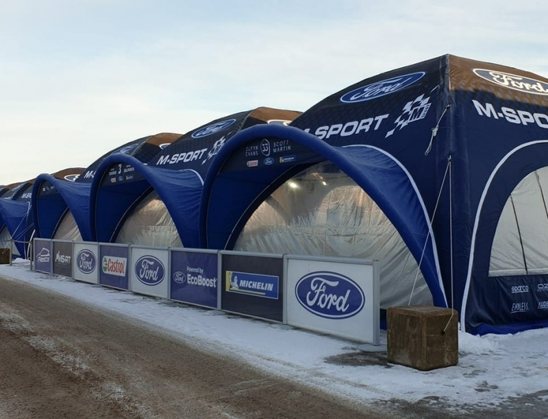 Rally Tents supplied to M-Sport