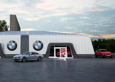 Inflatable Marquee 3D Project Render for BMW Dealer