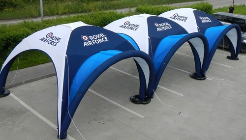 Axion Square Inflatable Event Tents for the RAF
