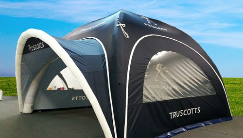 Axion Square Inflatable Event Tents with Visor for Truscotts