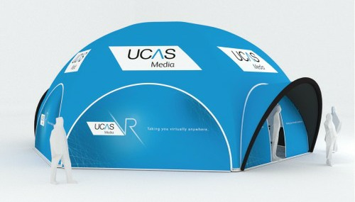 Axion Spider Inflatable Event Tent for UCAS Media
