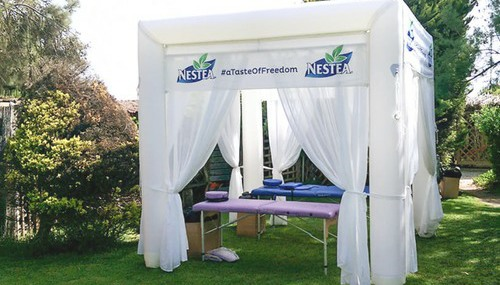 Axion Cube Event Tent for Nestea