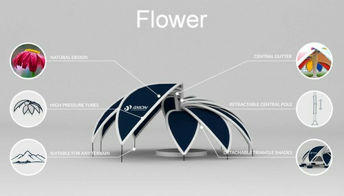 Large inflatable event tent - Axion Flower