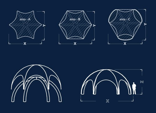 Inflatable Dome Event Tent - Dimensions