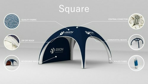 Axion Square - Inflatable event tent construction