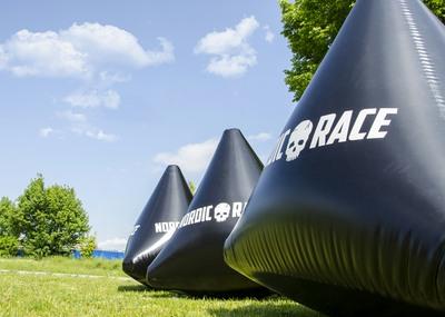 Inflatable Buoy for Triathlon Race
