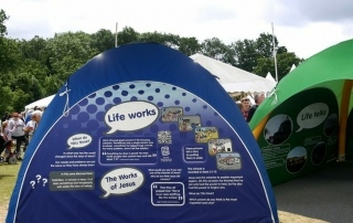 Inflatable tents for Life Exhibition