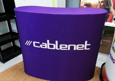 Inflatable reception desk - Inflatable Furniture from Inflatable Structures Ltd.