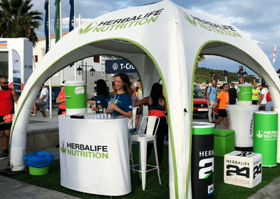 Inflatable event desk - Inflatable Furniture from Inflatable Structures Ltd.