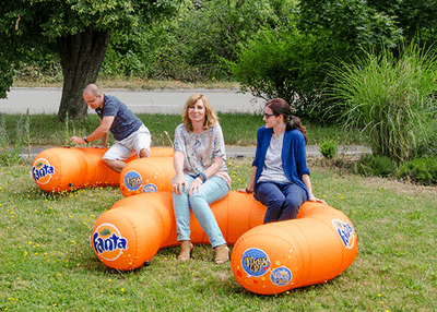Inflatable seat - Inflatable Furniture from Inflatable Structures Ltd.
