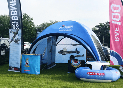 Inflatable Event Tent and Inflatable Furniture for RAF