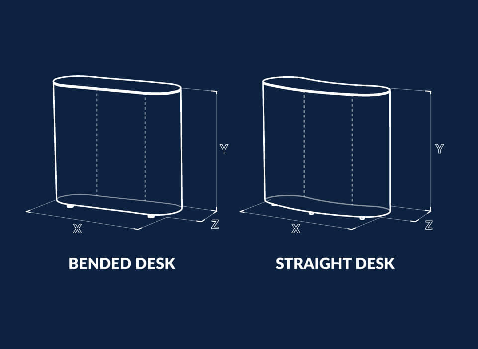 Inflatable desk dimensions