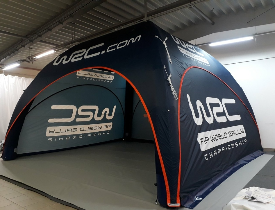 50 M2 Event Tent for The WRC. Fully Branded and all weather capable