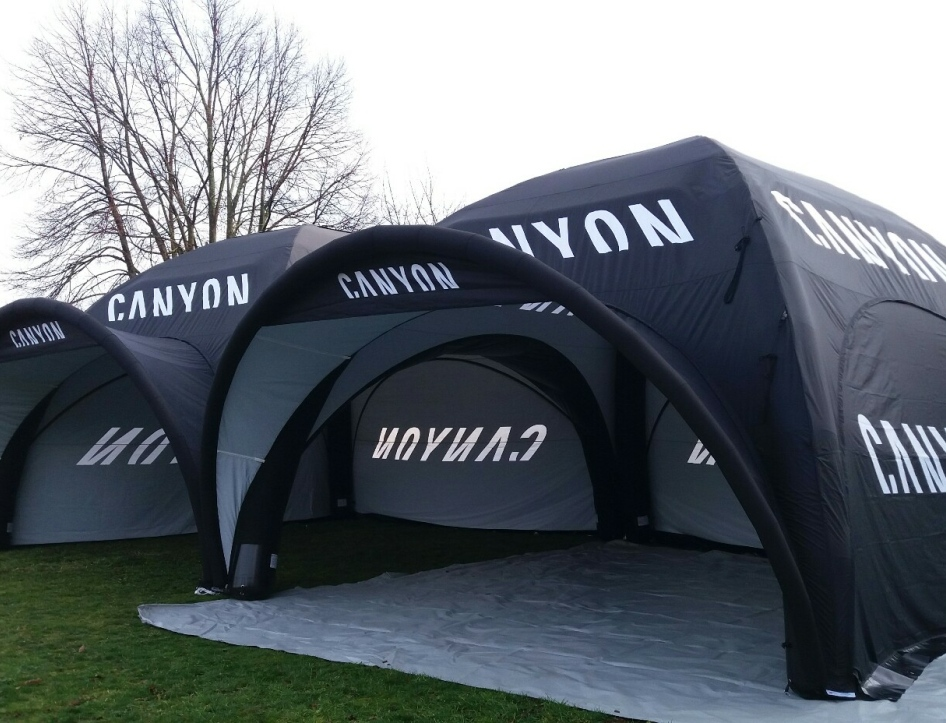 Axion Square 77 Inflatable Event Tents for Canyon Bikes - All Weather Event Tents