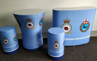 Axion Inflatable Furniture for the RAF Battle of Britain Memorial Flight - Inflatable Desks, Tables and Seating