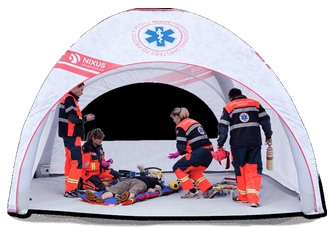 LITE Inflatable Tents are ideal for Vaccination Centre tents, Covid-19 Testing tents and A&E Triage tents