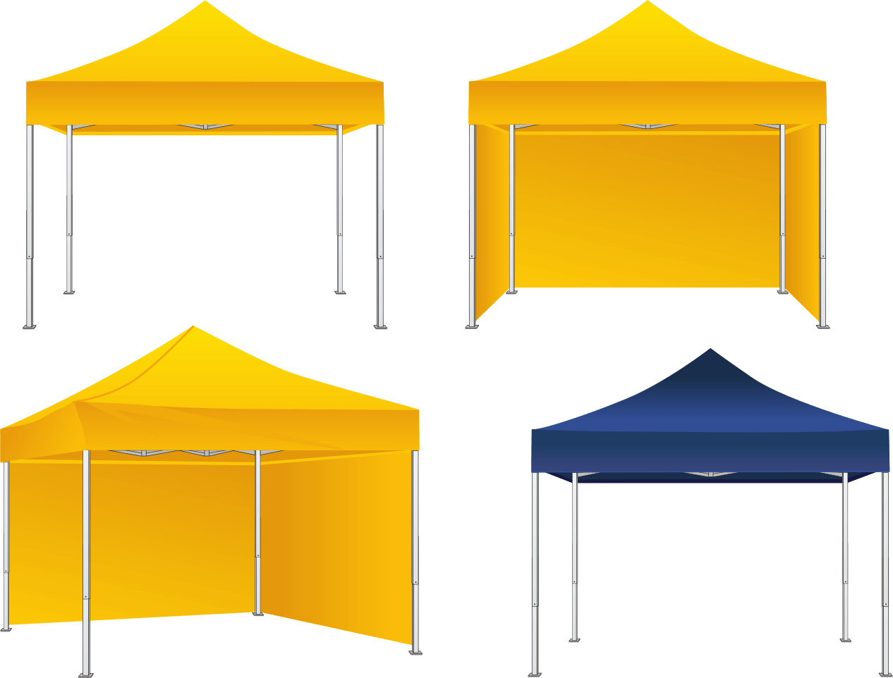 QUICK Aluminium Frame Tents are ideal for rapid deployment vaccination centre tents