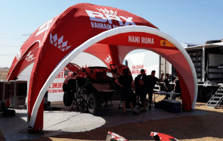Motorsports Service Tent for the Dakar Rally, as supplied to Prodrive